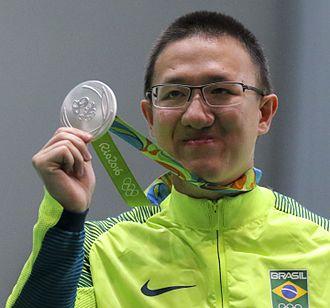 Felipe Wu - Wu with his Olympic Silver medal, August 2016