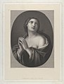 Female personification of Hope looking up with hands held together and left shoulder exposed, in an oval frame, after Reni MET DP841311.jpg