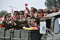 Female soldiers in North Korea military parade (15452372509).jpg