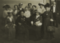 Feminists at the Seventh Conference of the International Woman Suffrage Alliance hosted in Budapest, 1913 with text.png