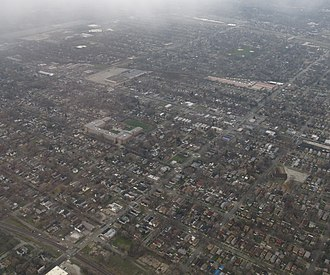 Roseland, Chicago - Roseland as viewed from above.