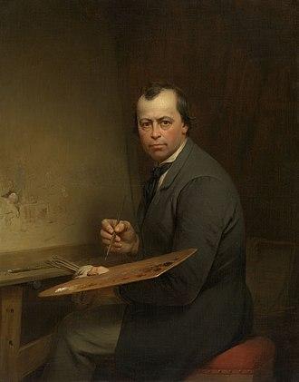 Ferdinand de Braekeleer the Elder - Self-portrait Ferdinand De Braekeleer, 1854