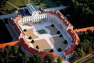 Eszterháza - Aerial view.