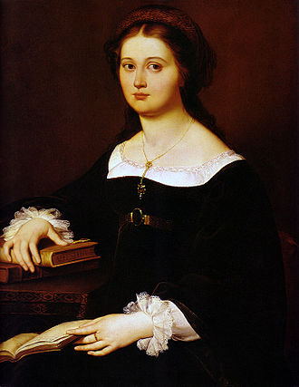 Filippo Agricola - Portrait of Constance Monti Perticari