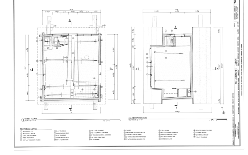 File first and second floor plans mcdermott cabin town for Alaska floor plans