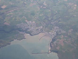 Fishguard - An aerial view of Fishguard.