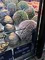 Fiskebryggen, Mathallen, Fishmarket, Bergen, Norway 2018-03-16. Sea urchin (kråkebolle) displayed for sale at Fjellskål sea food store A.jpg