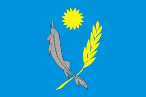 Kharabalinsky District - Image: Flag of Kharabalinsky rayon (Astrakhan oblast)