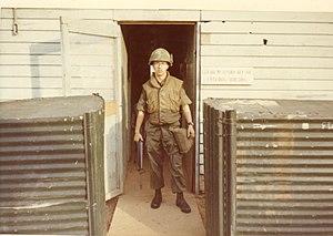Flak jacket - U.S. Army soldier wearing a flak jacket, during the Vietnam War