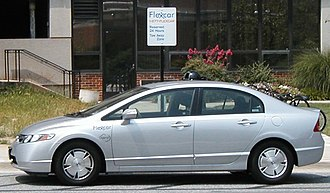 Flexcar - A Flexcar-owned Honda Civic Hybrid in its reserved parking spot.