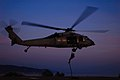 Flickr - Official U.S. Navy Imagery - A helicopter conducts twilight helicopter rope suspension training..jpg
