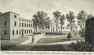 Flitwick Manor - Flitwick Manor and Church 1776
