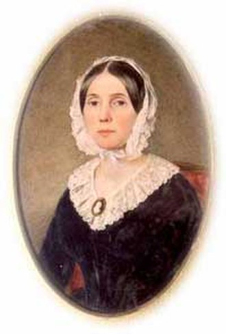 "Petticoat affair - Floride Calhoun, wife of Vice President John Calhoun and leader of the ""anti-Peggy"" Washington wives"