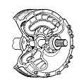 Fluid flywheel, part section (Autocar Handbook, 13th ed, 1935).jpg
