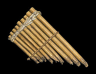 Pan flute - This pan flute from the Solomon Islands is made from bamboo chutes bound with reeds and rope