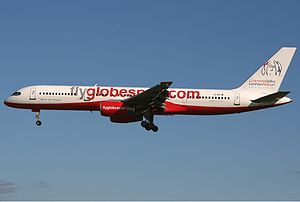 Flyglobespan Boeing 757 Spijkers.jpg