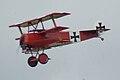 Fokker Dr.I Manfred Richthofen Pass three 03 Dawn Patrol NMUSAF 26Sept09 (14413334089).jpg