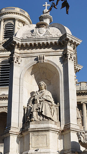 Esprit Fléchier - Statue of Esprit Fléchier by Louis Desprez at the Fountain of the Four Bishops, in the center of Place Saint-Sulpice in Paris.