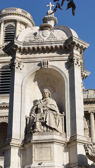 Esprit Fléchier - Statue of Esprit Fléchier by Louis Desprez at the Fountain of the Four Bishops, in the center of Place Saint-Sulpice in Paris.