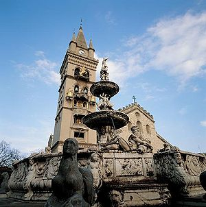 Fountain of Orion (1553) in Messina, Italy, by...
