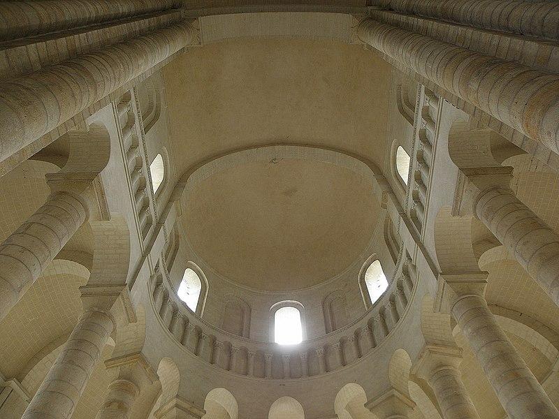 Cul de four du chœur de l'abbatiale de Fontevraud (49).