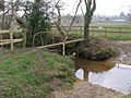 Footbridge over Ditchend Brook, south of Godshill - geograph.org.uk - 385862.jpg