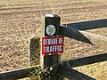 Footpath warning - geograph.org.uk - 1512412.jpg