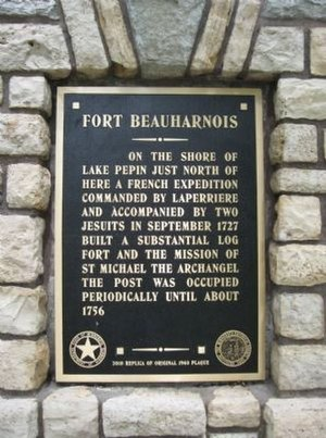Fort Beauharnois - Fort Beauharnois plaque