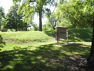 Fort Kaskaskia State Historic Site - Eroded ramparts of Fort Kaskaska