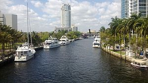 Fort Lauderdale, Florida - The New River in downtown Fort Lauderdale