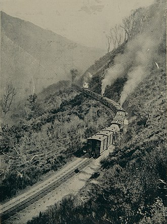 Rimutaka Incline - The long slow climb up the centre rail