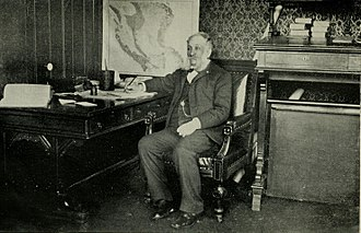 Frank M. Pixley - Pixley in The Argonaut editorial office, ca. 1892