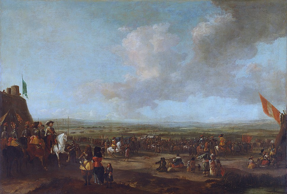 Frederik Hendrik at the surrender of Maastricht, 22 August 1632, in the manner of Pieter Wouwerman