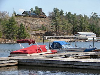 French River, Ontario - The French River at the French River Post