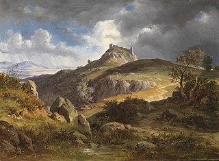 Vue des ruines de Canossa