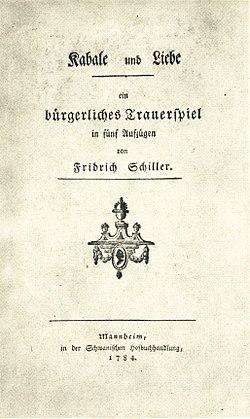 Friedrich Schiller - Kabale und Liebe 1784.jpg