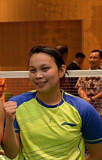 Setyana Mapasa Badminton player
