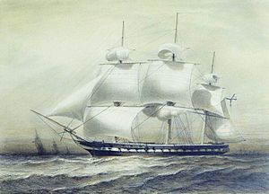Treaty of Shimoda - The Russian frigate ''Pallada'' that carried Vice-Admiral Yevfimy Putyatin to Japan.