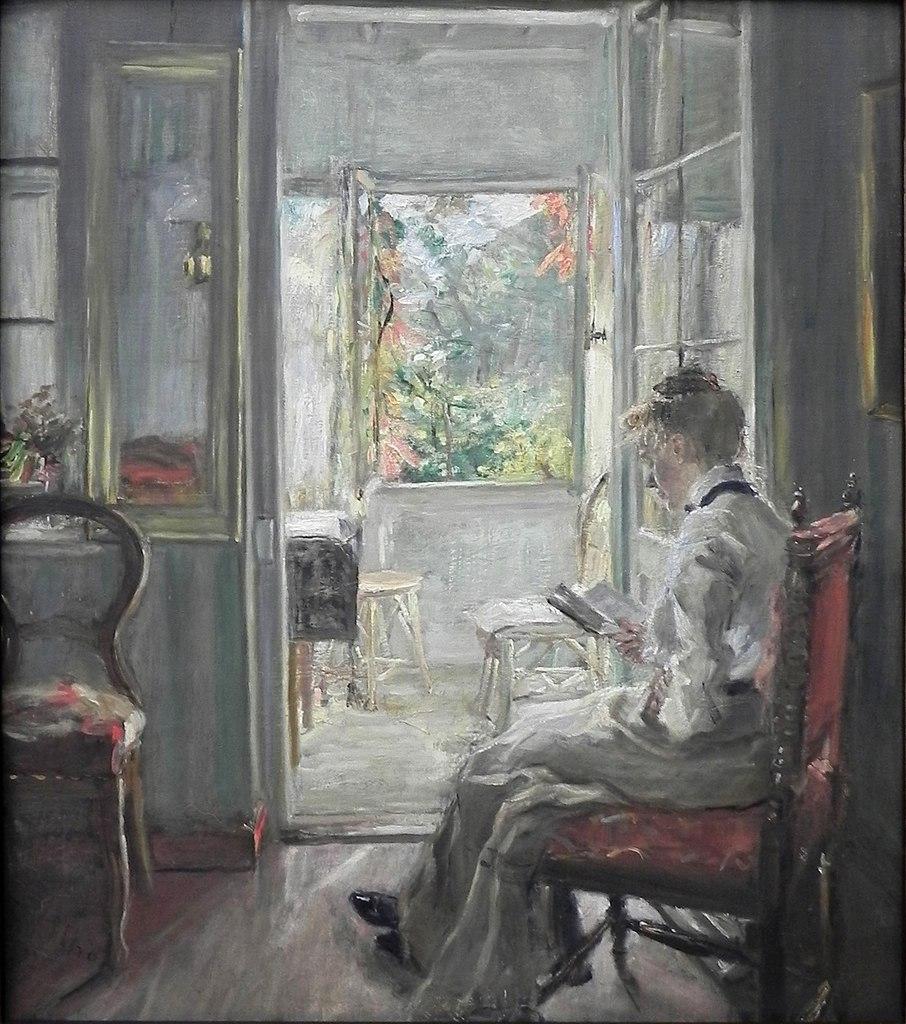 Fritz v Uhde Lesendes Mädchen