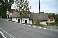 Front view of Cultural monument House no. 20 in Eš, Pelhřimov District.jpg