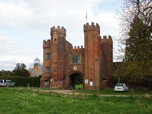 Frontage of Lullingstone Castle
