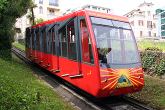 Monte San Salvatore funicular - Lower section car