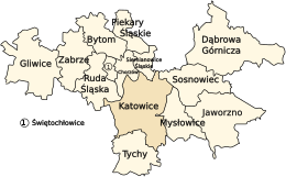 Upper Silesian Metropolitan Union - central part of agglomeration