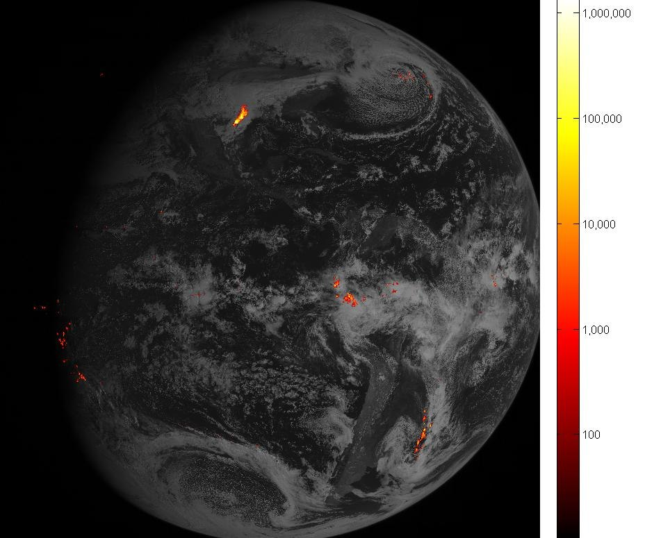 GOES-16 first GLM data
