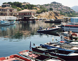 Mithymna - View of the harbour