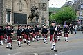 Galashiels Ex-Service Pipe Band at the War Memorial - geograph.org.uk - 1379472.jpg