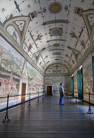 Niccolò Granello - Gallery of Battles at the Royal Monastery of San Lorenzo de El Escorial. Fresco decoration carried out between 1585 and 1591 by a team of artists led by Niccolò Granello