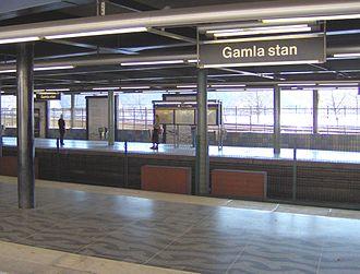 Gamla stan metro station - Image: Gamla Stans T bana