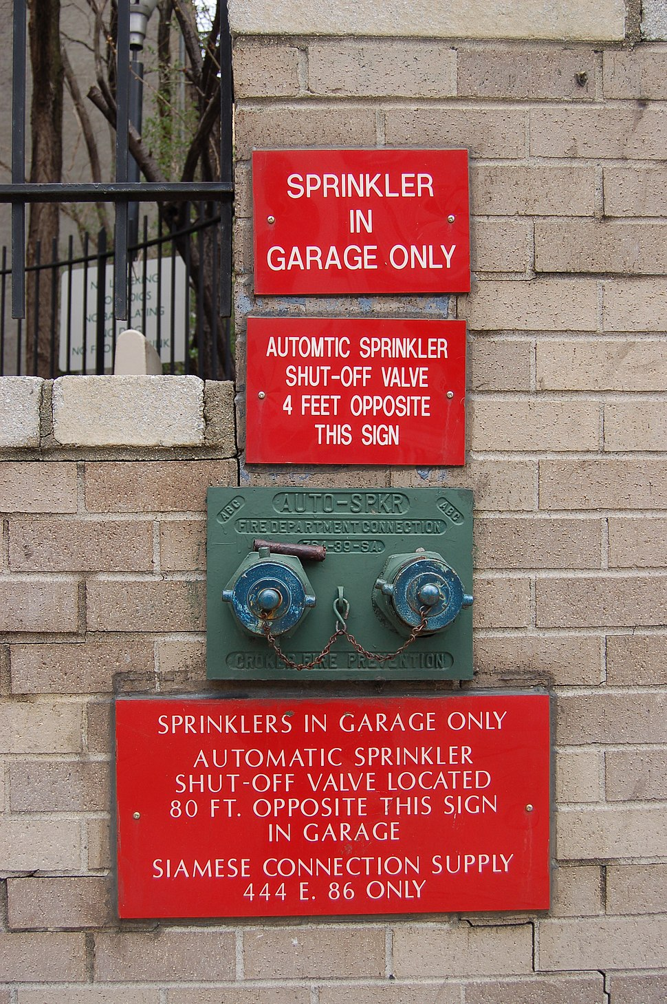 Garage Sprinkler in NYC