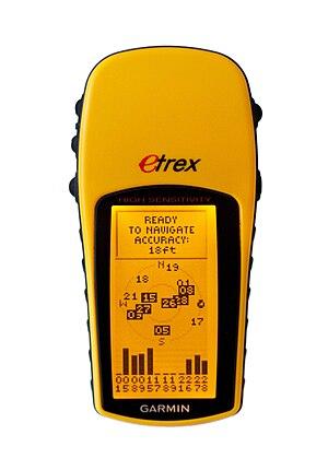 English: A late-model Garmin Etrex H handheld ...